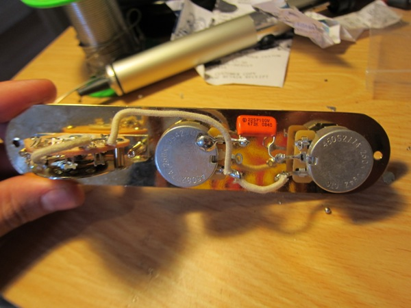 guitar control plate wiring