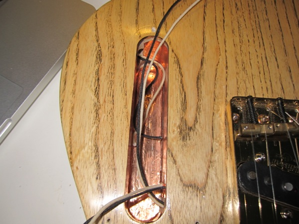 guitar electronics shielding with copper tape